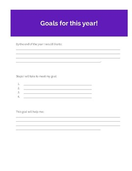 Student Data Binder Purple 19-20