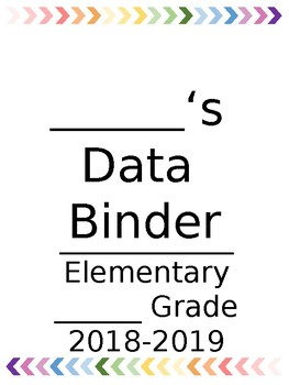 Student Data Binder Rainbow Chevron