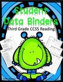 Student Data Binder Sheets - Third Grade Reading CCSS