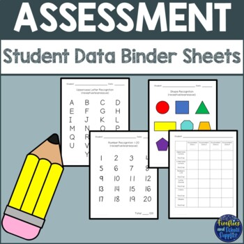 Student Data Binder Sheets with Progress Chart