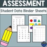 Student Data Binder Sheets with Progress Chart