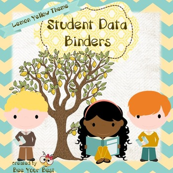 Student Data Binder in LEMON YELLOW THEME