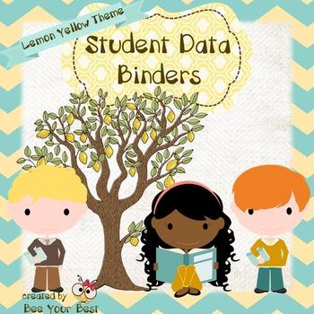 Student Data Binder in LEMON YELLOW THEME