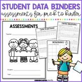 Student Data Binders: Assessments for kindergarten &preschool