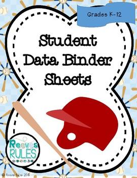 Student Data Binders - Sports