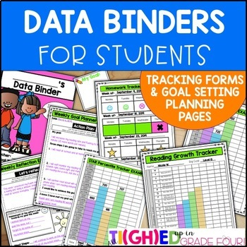 Elementary Student Data Binders, Data Tracking Forms, and Goal Setting Planners