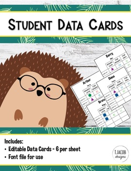 Student Data Cards