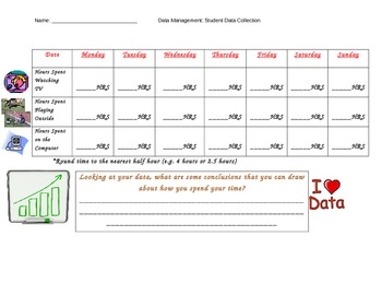 Student Data Collection Template - Personal Data & Weekly Behaviours