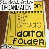 Student Data Folder - Data Organization - Editable!