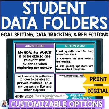 Student Data Folder Goal Setting Data Tracking Charts And
