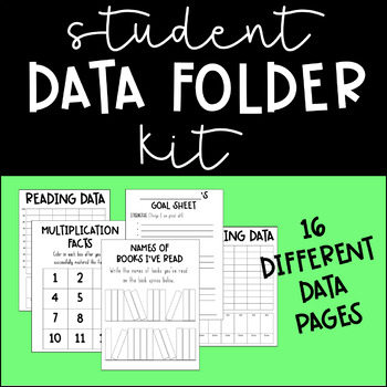Student Data Folder Kit (graphs, data tracking, goal sheets, and more!)