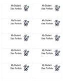 Student Data Folder Label - Editable