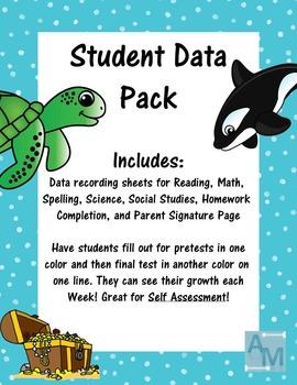 Student Data Folder Pack