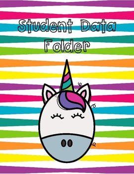 Student Data Folder Unicorn Themed