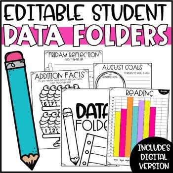Student Data Folders - Editable!