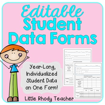 EDITABLE Student Data Form