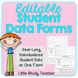 EDITABLE Student Data Form