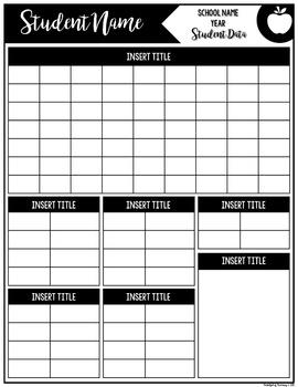 Student Data Form | EDITABLE