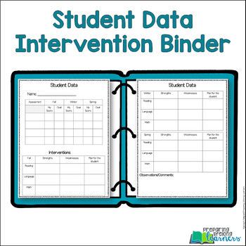 Student Data Intervention Binder