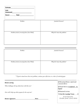 Student Data Journal for Monitoring Progress