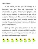 Student Data Journal for Monitoring Progress