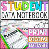 EDITABLE Student Data Notebook & Portfolio