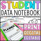 EDITABLE Student Data Notebook & Portfolio