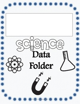 Student Data Notebook, Science Themed Bundle