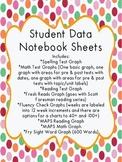 Student Data Notebook Bundle