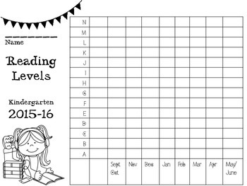 Student Data Notebook for Reading Levels and Sight Words