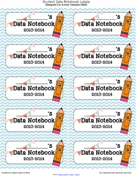 Student Data Notebook/Binder/Folder Labels