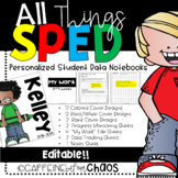 Student Data Notebooks for SPED-Personalized