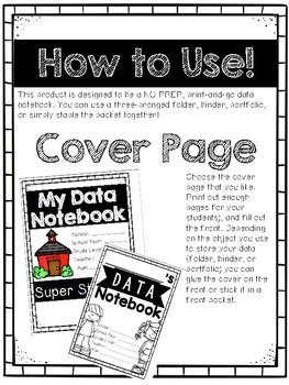 Student Data Portfolios--NO PREP!