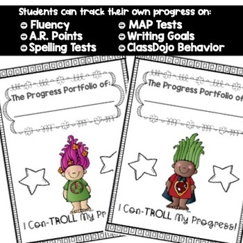 Student Progress & Growth Portfolio {Troll Themed Growth Mindset}