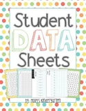 Student Data Sheets