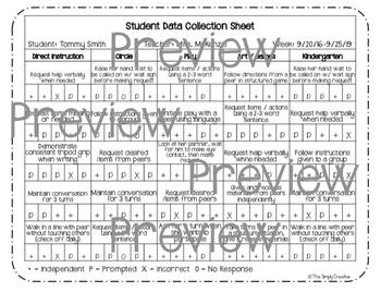 Student Data Sheets