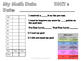 Student Data Sheets-Math