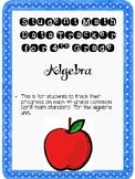 Student Data Tracker 4th grade Algebra Standards