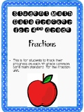 Student Data Tracker 4th grade Fraction Standards