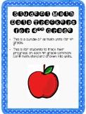 Student Data Tracker 4th grade Math Standards Bundle
