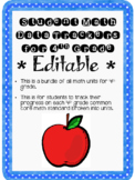 Student Data Tracker 4th grade Math Standards Bundle Editable