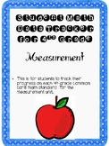 Student Data Tracker 4th grade Measurement Standards