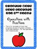 Student Data Tracker 4th grade Operations With Fractions S