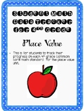 Student Data Tracker 4th grade Place Value Standards