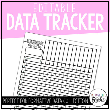 Student Data Tracker | EDITABLE!