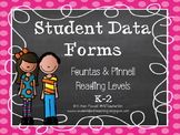 Student Data Tracker - Reading Levels
