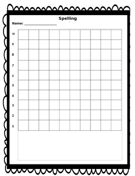 Student Data Tracker- Spelling Tests