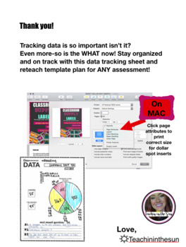 Student Data Tracker and Reteach plan template