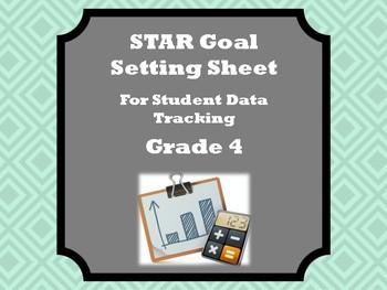 Student Data Tracker for Fourth Grade STAR Assessment