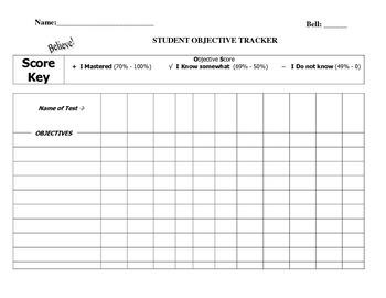 Student Data Tracking Chart